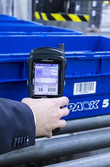 Behältermanagement Software RFID Scanner klein